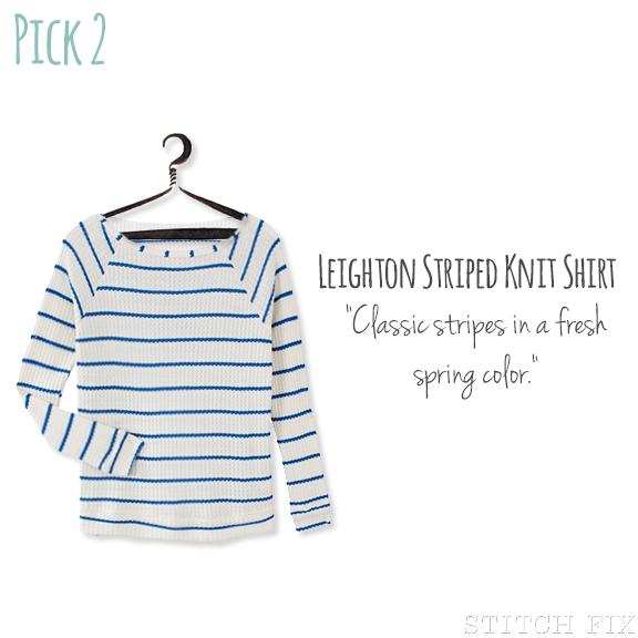 2 Leighton Striped Knit Shirt
