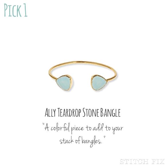 1 Ally Teardrop Stone Bangle
