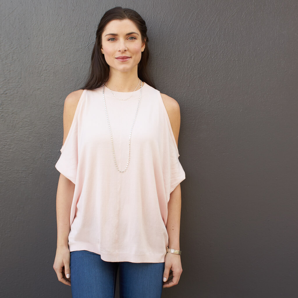 The cold-shoulder trend has graced us with its presence for spring & it just so happens to be the perfect way to ease yourself into showing a little skin.