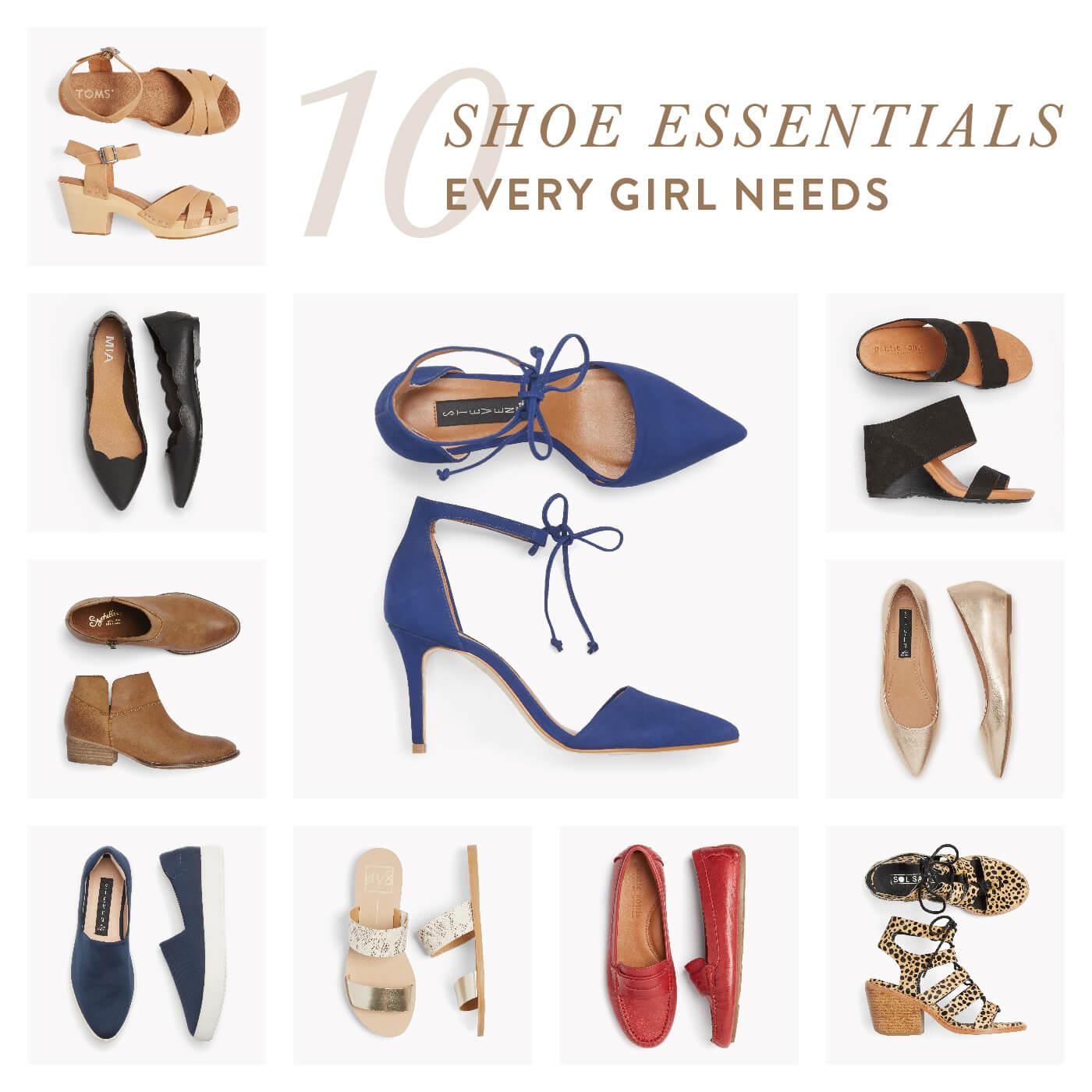 10 Shoe Essentials Every Girl Needs